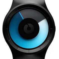 Celeste, the watch face consists of two transparent coloured disks that represent the watch hands. These coloured disks move over each other as time passes, changing the colour of the face throughout the day.