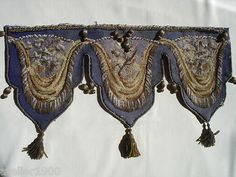 Antique Victorian Woolwork AND Beaded Pelmet | eBay