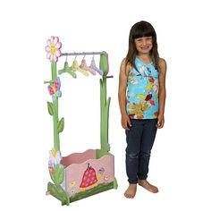 "Fantasy Fields Magic Garden Girl's Dress Up Valet Rack with 4 Hangers - Teamson Design Corp - Toys ""R"" Us"