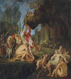 MARTINUS SAAGMOLEN (OLDENBURG 1620-1669 AMSTERDAM) Le supplice de Marsyas signé et daté indistinctement '1658' (en bas vers le centre) huile sur toile 115,4 x 101,5 cm. (45 3/8 x 40 in.)