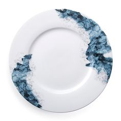 Stylized blossoms gracefully arch across the striking Moody Bloom Dinnerware Collection from Carrol Boyes. Its rich color palette of deep blues on white bone china offers a beautiful contrast that adds sophistication and drama to your tablescape. Blue Colour Palette, Deep Blue, Bone China, New Product, Tablescapes, Dinnerware, Bloom, Plates, Tableware