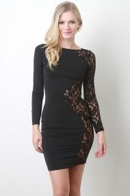 Hourglass Lace Bodycon Dress
