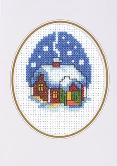 Newest Pictures Cross Stitch house Style It's Warmer Inside Card Cross Stitch Kit Cross Stitch Christmas Cards, Xmas Cross Stitch, Butterfly Cross Stitch, Cross Stitch Cards, Cross Stitch Borders, Cross Stitch Alphabet, Cross Stitch Animals, Christmas Cross, Cross Stitch Designs