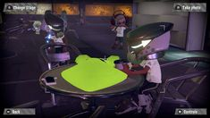 Splatoon Amiibo power suit gear white ink color ,sitting at the table for Splatfest.