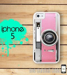iPhone 5 Mighty Case - Pretty in Pink Retro Camera - 2 Part Protective iPhone 5 Case