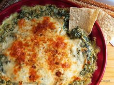 Comfy Cuisine: Holiday Drinks & Appetizers - Hot Spinach Parmesan Dip