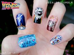 Back to the Future Nails. I die. So cute.