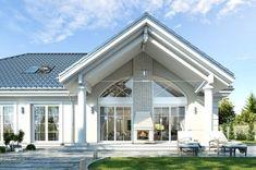 Minimalist House Design, Tiny House Design, Minimalist Home, Villas, Kerala Houses, Design Case, Model Homes, The Hamptons, Bungalow