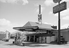 Frank Lloyd Wright's Little Known Gas Station For the Future - Dwell