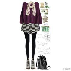 条纹 Nerdy, Casual, Polyvore, Outfits, Image, Fashion, Clothes, Moda, Suits
