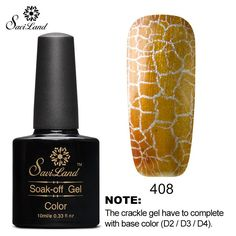 Cracking Led Uv Gel Nail Polish Shatter Style Nail Gel Lacquer Top Base
