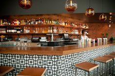tiled bar.. I want that tile!