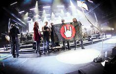Epica vlak voor hun uitverkochte 10th Ann. Retrospect optreden van zaterdag jl.  (foto: Tim Tronckoe)