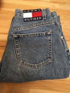 "Vtg Tommy Hilfiger Jeans 90's Hip Hop  Denim Pants 30"" Waist 32"" Inseam Retro #Casual"