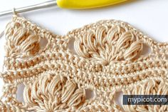 MyPicot is always looking for excellence and intends to be the most authentic, creative, and innovative advanced crochet laboratory in the world. Picot Crochet, Crochet Shell Stitch, Crochet Motifs, Crochet Stitches Patterns, Crochet Chart, Diy Crochet, Crochet Designs, Love Crochet, Knitting Patterns