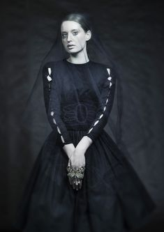 """lacrimosa"" veiled portrait by marzena kolarz Beauty Photography, Veil, Goth, Portrait, Style, Fashion, Gothic, Swag, Moda"