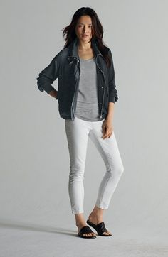 Eileen Fisher Jacket, Tank & Skinny Jeans  available at #Nordstrom