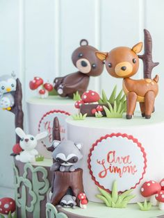 Woodland Cakes for Twins | Cottontail Cake Studio | Sugar Art & Pastries