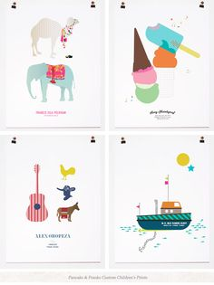 One Good Thing: Custom Children's Art Prints - Home - Creature Comforts - daily inspiration, style, diy projects + freebies