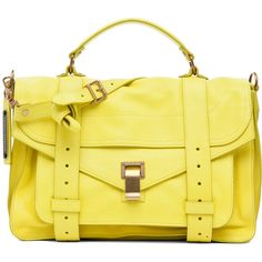 Proenza Schouler PS1 Medium Leather in Sunshine ($1,695) ❤ liked on Polyvore