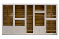 Mask bookcase with classical frame