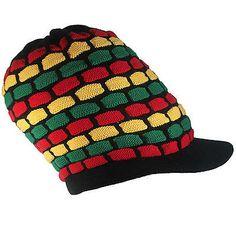 3221550be61 Rasta Natty Dread Rastafari Peak Crown Reggae Cool Runnings Jamaica Marley  M L
