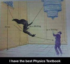 The best physics textbook - Batman Funny - Funny Batman Meme - - The best physics textbook The post The best physics textbook appeared first on Gag Dad. Dc Memes, Funny Memes, Hilarious, Funny Pins, Funny Quotes, Life Quotes, Physics Textbook, Physics Humor, Biology Humor