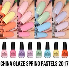 Check out my swatch video https://youtu.be/jXE4eL9cCZc of the China Glaze 2017 Spring Pastels!