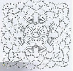 47 ideas for crochet granny square pattern mandalas photo tutorial Crochet Motif Patterns, Granny Square Crochet Pattern, Crochet Blocks, Crochet Mandala, Crochet Diagram, Crochet Chart, Crochet Squares, Crochet Granny, Crochet Stitches