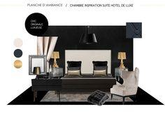 chambre inspirée d'une suite d'hôtel de luxe, chic et originale