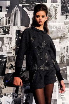 Runway inspiration for schoolgirl fashion for fall 2012.    Looks by DSquared2, Jil Sander Navy, Edun, LAMB, Lauren Moffatt, Veda.