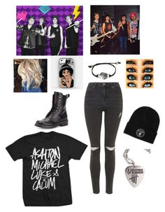 """Band _ 5 Seconds Of Summer"" by hayles-rayne1 ❤ liked on Polyvore featuring Topshop and rag & bone"