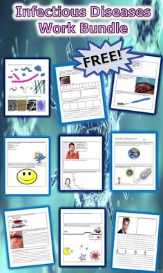 This is a FREE 12 page homework or classwork bundle about infectious diseases. It covers viruses, bacteria, parasites, the immune system, HIV, AIDS, and STD's.  It's a nice blend between science and health. Answers are included. -Enjoy! Science from Murf LLC