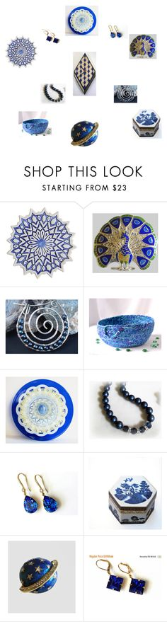 """Beautiful Blues"" by einder ❤ liked on Polyvore featuring interior, interiors, interior design, home, home decor, interior decorating and Royal Doulton"
