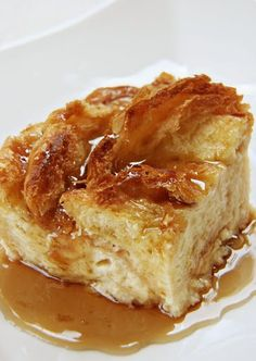 Croissant Bread Pudding | This looks incredible! I absolutely love bread puddings
