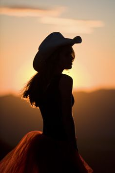 Cowgirl Silhouette by Cathy Gregg on 500px