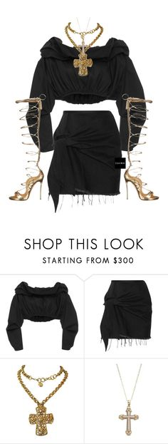 """""""Untitled #1558"""" by elinaxblack ❤ liked on Polyvore featuring E L L E R Y, Marques'Almeida, Christian Lacroix and Dsquared2"""