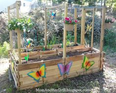 Kid-Size Critter Proof Veggie Garden, perfect for school grounds or courtyards with 4-legged thieves