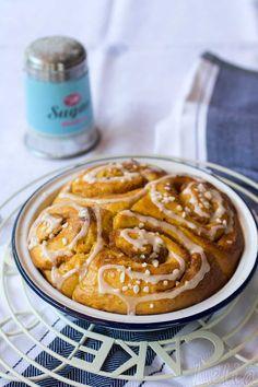 Süßkartoffelschnecken aus Germteig, mit Süßkartoffeln im Teig und in der Fülle #schneckenkuchen #süßkartoffelschnecken #zimtschnecken #hefeteig #hefeschnecken #süßkartoffelrezept