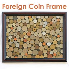 Coins Display - great info on how to frame coins. No Glueing!!!