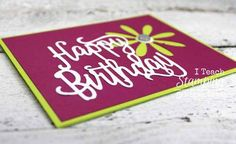 Stampin' Up! Cards | Card Making Ideas | Handmade Greeting Cards | Paper Crafts | Birthday Cards | Cards for Men | Masculine Cards | Simple Cards | Die Cut Cards | Die Cut Card Ideas | Punch Art | Cute card using the Stampin' Up! Daisy Paper Punch