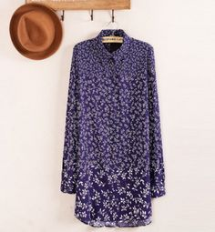 Granny Vintage Dainty Floral Tunic Shirt
