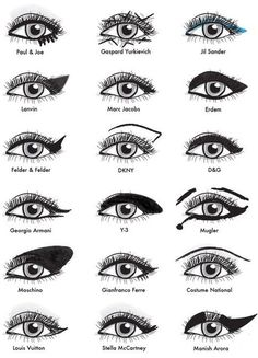 All the designer eye makeup tips you could ever want in one place.  #nailart #makeup #lips #eyes #face #nails #beauty