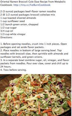 Broccoli, Ramen Noodle Salad