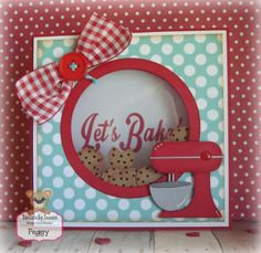 Vintage kitchen cookie and mixer card by Crafty Clippings by Peg craftyclippingsbypeg.etsy.com