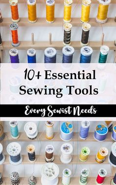 Great list of the essential sewing tools every sewist needs #sew #sewing #handmade
