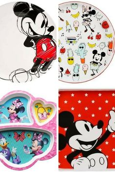 Disney Melamine, have fun this summer with a fun Disney image on plates, bowls, serving pieces on this sturdy unbreakable melamine. #ad #disney #melamine #dinnerware #shopthelook