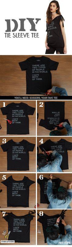 DIY by tying up those sleeves! // DIY Tie Sleeve Tee