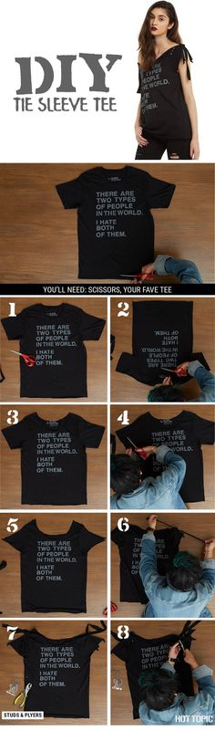 DIY by tying up those sleeves! // DIY Tie Sleeve Tee
