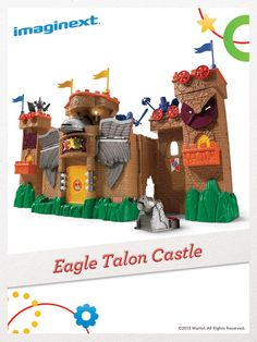 Lock the gate, barricade the windows, and get ready for a medieval battle with the Imaginext Eagle Talon Castle! #FisherPrice #Toys #Imagination